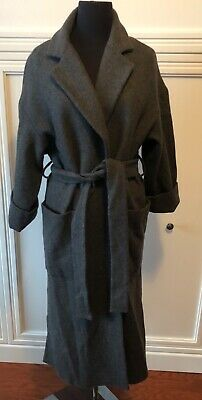 NWT $199 ZARA 2019 LONG BELTED DOUBLE BREASTED WRAP COAT 5854//031/_S M XL