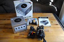 """Console Nintendo GAME CUBE GC silver """"prête à jouer"""" : câbles, manette et boite"""