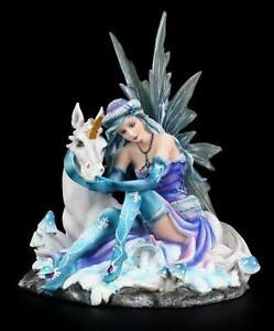 Elfen Figur - Mia mit Einhorn - Fee Statue Fantasy Deko