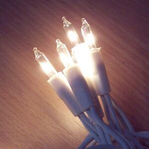 10  x 10er Mini Lichterkette,10 Lichter Weisse Kabel Klare Lichter warm weiß