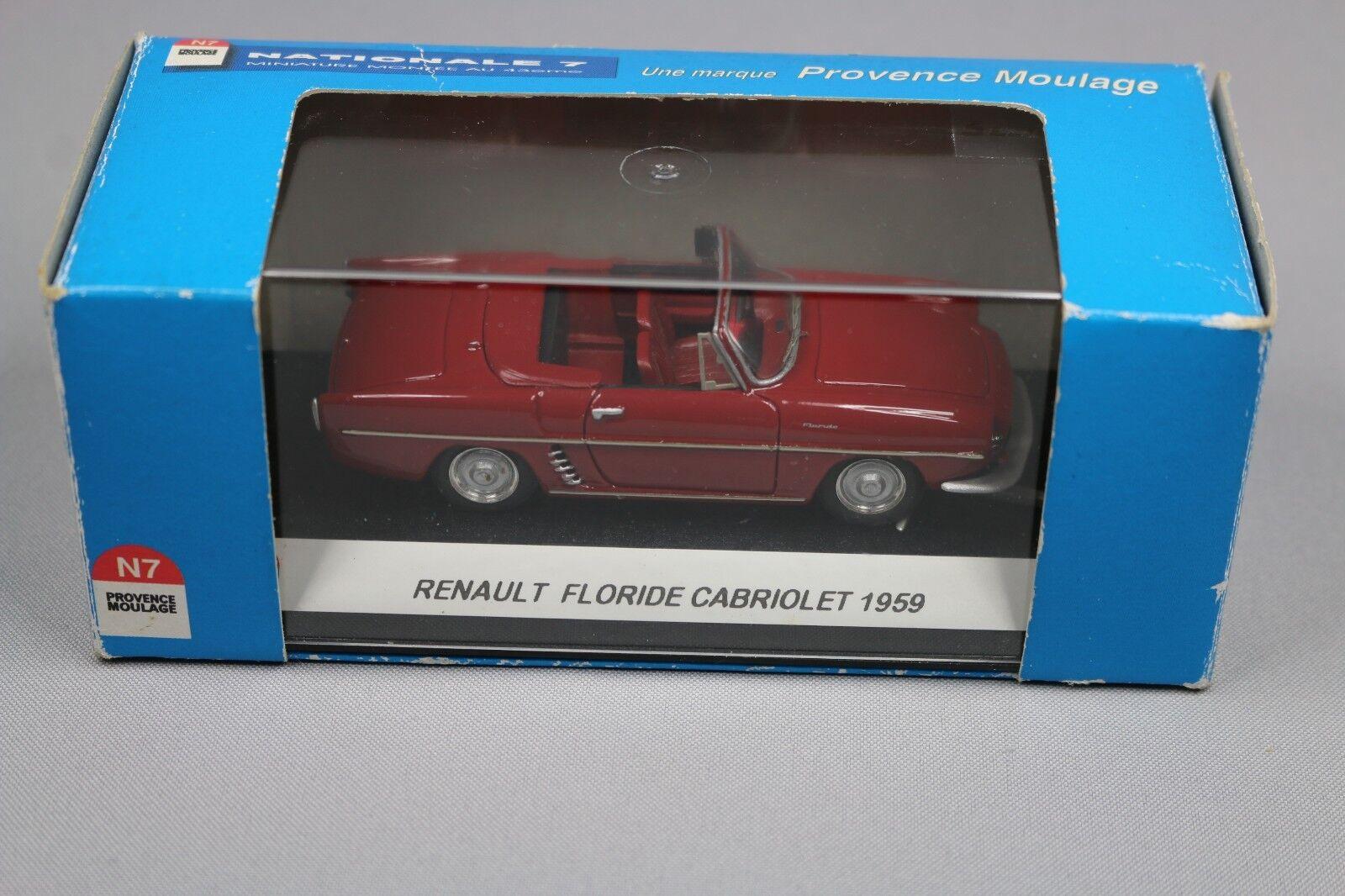 ZC578 Provence Moulage N034 Vehicule Miniature 1 43 Renault Floride Cabriolet