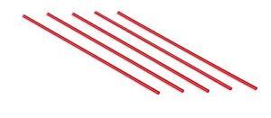 Red, 1000 Disposable Plastic Coffee Stirrer Straw 5 Inch Sip Stir Stick