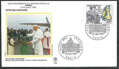 1985 Vaticano Viaggi Del Papa Ritorno A Roma Dall'africa - Sv