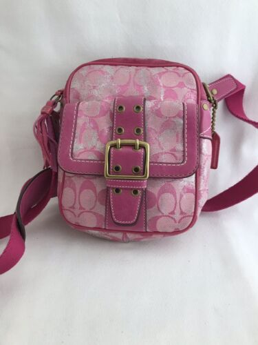 "AUTHENTIC VINTAGE COACH PINK/FUSCHIA SIGNATURE ""C"""