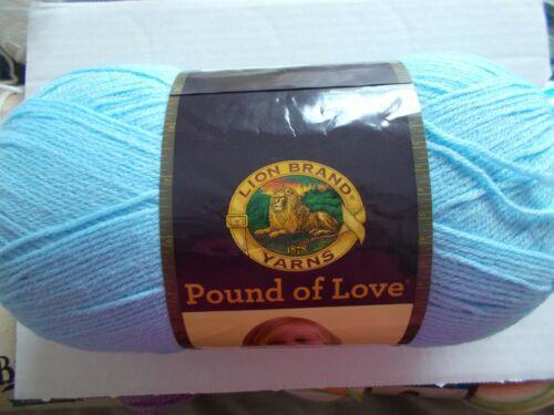 1020 yds Lion Brand Pound of Love baby yarn Pastel Blue 1 skein
