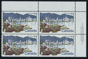 Canada 600 TR Block Plate 1 MNH Vancouver