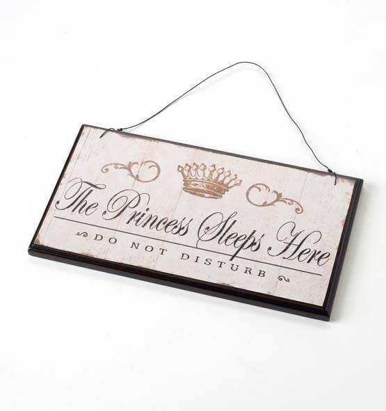 Heaven Sends The Princess Sleep Here Wooden Sign