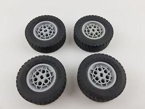 LEGO Technic Räder 4 Reifen 30.4 x 14 VR auf grauen Felgen