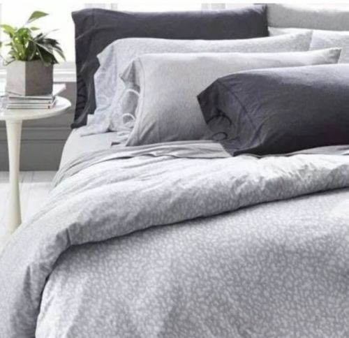 Calvin Klein Modern Cotton Primal Gray Twin Duvet Cover Msrp For