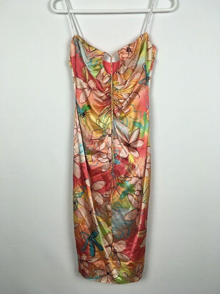 David Meister damen Flora Form Fit Slip Dress Größe 2 B0016