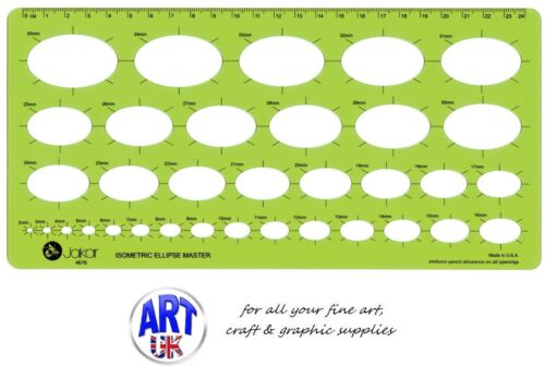 Jakar Isometric Ellipse Master Oval Stencil Template Art Design Drawing Aid 4676