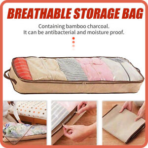 Quilt-Storage-Bag-Clothes-Sweater-Closet-Blanket-Foldable-Non-woven-Box-Organize