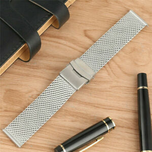 Mesh Stainless Steel Watch Band Bracelet Strap 20/22mm Replacement Strap