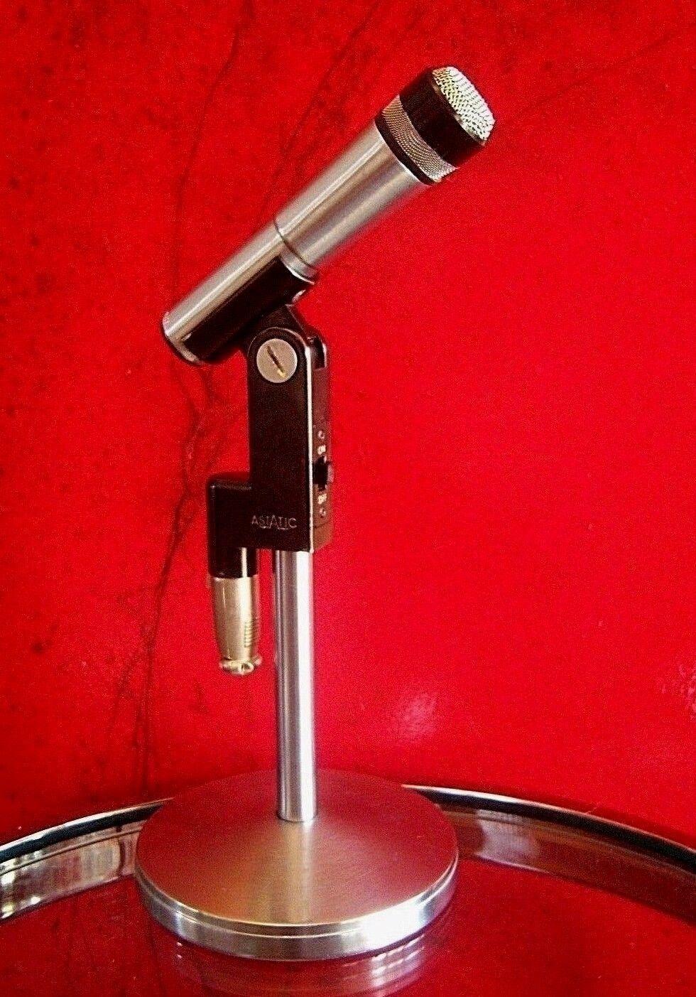 Vintage década de de de 1960 Cardioide Micrófono dinámico Astatic 810-S Antiguo Shure W conector c4a0f5