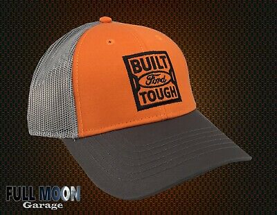 New Ford Built Tough Gray White Camo Men/'s Snapback Trucker Cap Hat