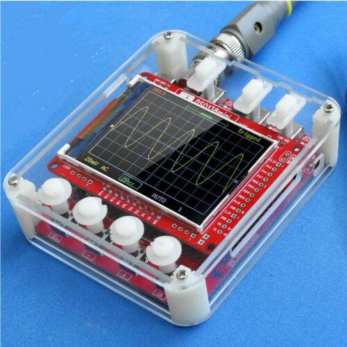 """DSO138 Mini 2,4/"""" TFT Digital Oszilloskop Kit DIY Teile mit übersichtlichem Fall"""