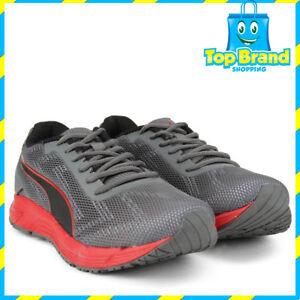 Puma Mens engine quarry black red Running Shoes Joggers Gym Workout ... 2a18a085e