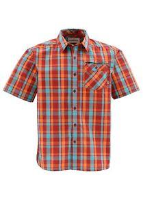 Simms-ESPIRITO-Short-Sleeve-Shirt-Cutthroat-Plaid-NEW-Closeout-Size-Medium