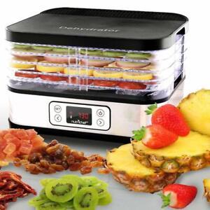 NutriShef-Multi-Tier-Stainless-Digital-Food-Dehydrator-w-5-Stackable-Trays