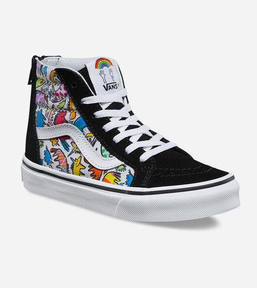 ff117959c1a10 VANS Sk8 Hi Zip Dallas Clayton Unicorns Multi Toddler 4 Shoes Rainbow for  sale online