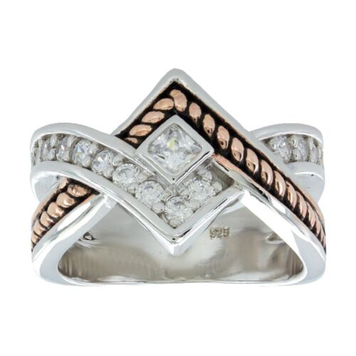 Montana Silversmiths Clasped in Rope and Star Light Ring RG154