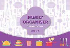 Purple 2017 Calendar FAMILY ORGANISER /PLANNER  Two Week View -CL-0675