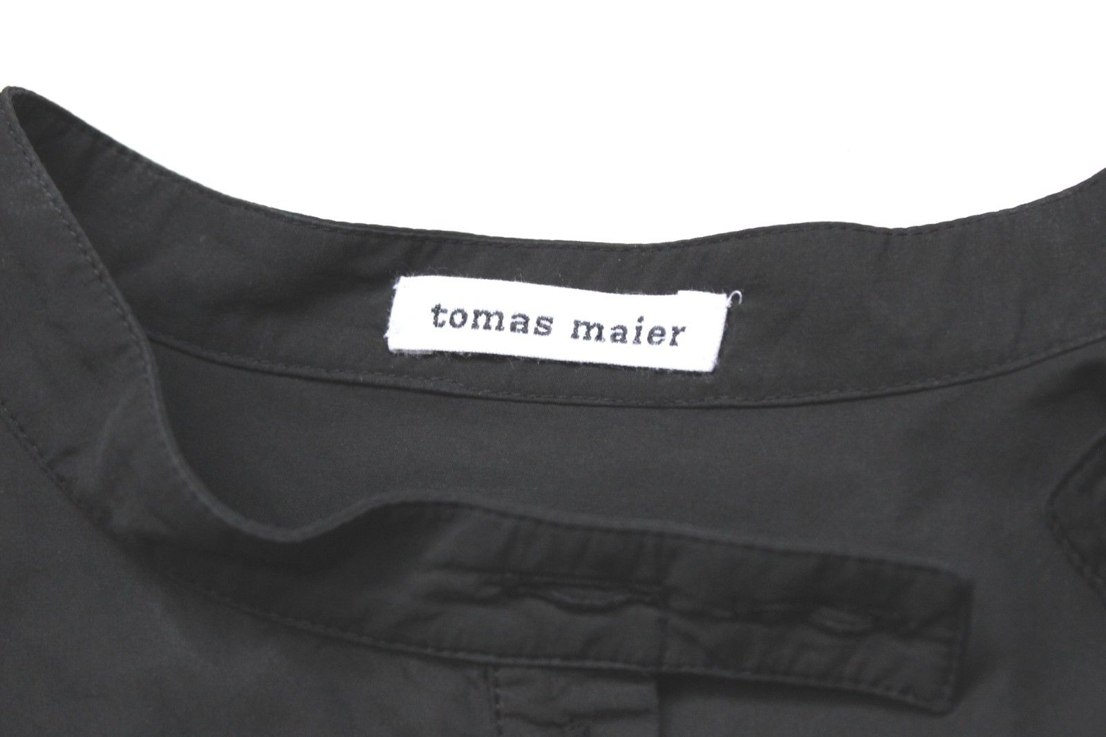 Tomas Maier cotone manica sbuffo sbuffo sbuffo nero Camicia Camicetta US 6 17bef3