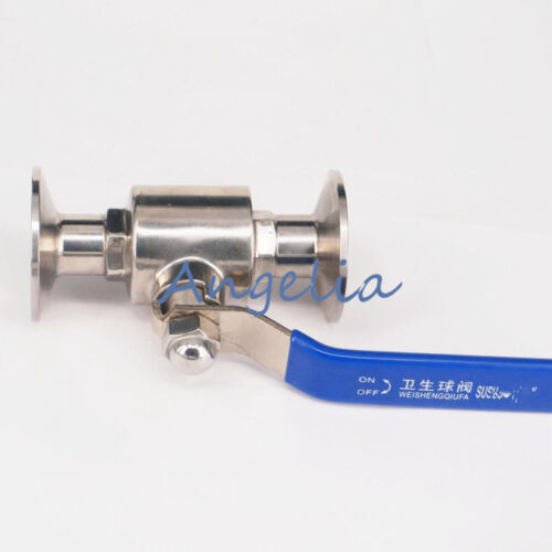 """3//4/"""" SUS316 Stainless Steel Sanitary Tri Clamp Ball Valve Home Brew Beer"""