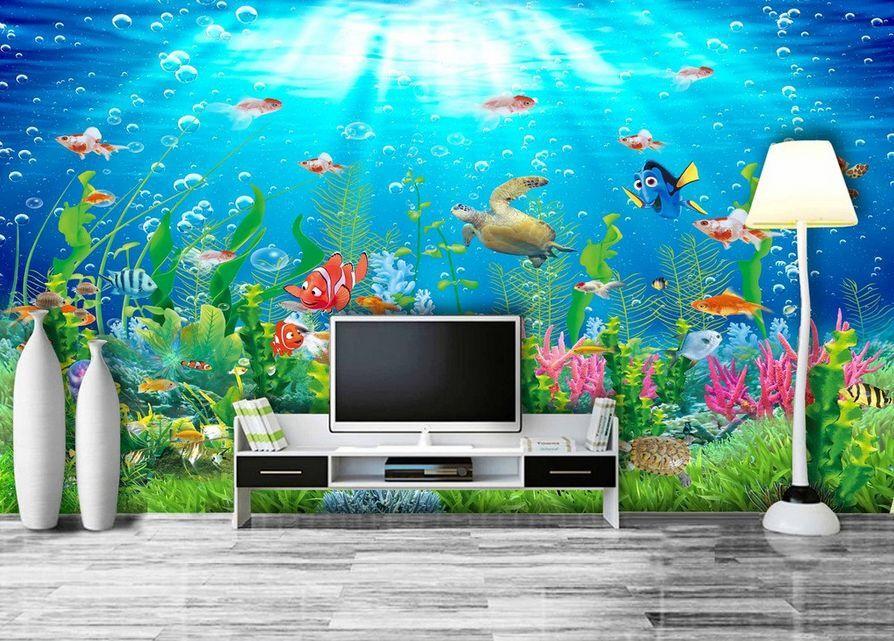 3D Meer, freude der tiere 294 Fototapeten Wandbild Fototapete BildTapete Familie