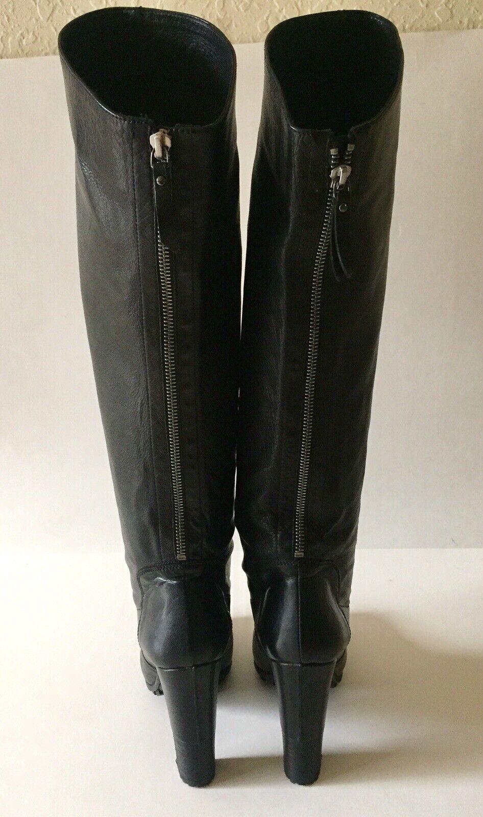 """Women's """"VIC MATIE"""" Black Black Black Genuine Leather Boots shoes Size EUR 39 32c62b"""