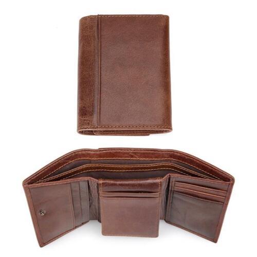 Slim Antitheft Men Leather Wallet RFID Male Mini Coin Purse Credit Card Holder