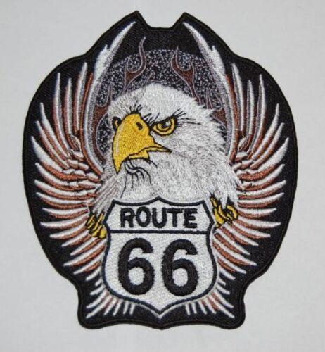 Route 66 Eagle Patch Patch 11x9cm Biker Cowl MC Vintage Old School Chopper