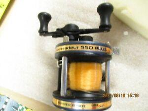 Abu Garcia Ambassadeur 550 Plus Bait Casting Fishing Reel-High Speed Retrieve-NM