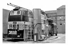 pt6528 - Reading Trolleybus no 192 at Mill Lane Depot Washer in 1968- photograph