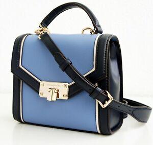 Details zu Michael Kors tasche handtasche kinsley xs th satchel french blue neu