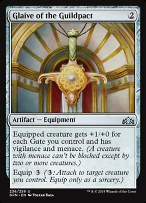 Guilds of Ravnica Uncommon PLAYSET 4x Glaive of the Guildpact