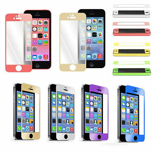 iphone 5 screen protector colorful real tempered glass screen protector for 14585