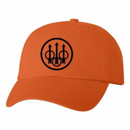 Beretta Circle Logo Dad Hat Pro Gun Brand 2nd Amendment Cap Pistol Rifle Orange