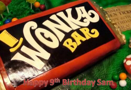 Personalizados A4 Willy Wonka Barchocolate Fábrica Icing