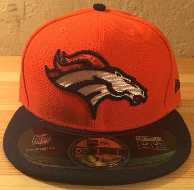 Nwt Denver Bronco 59fifty Fitted Hat 886614825730 886614825730 886614825730 Orange/Blue/White 7 3/8 872087