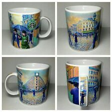 2001 Starbucks Barista mug coffee cup Paris Street, Rainy Day painting art