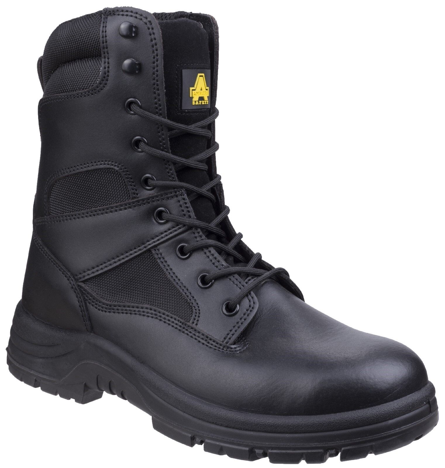 Amblers Black Leather Waterproof Combat Boots Military Police Security High Leg Leg High 9fea65