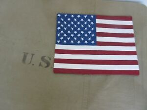 US-Army-Leather-Blood-Chit-Patch-Vietnam-Flag-50-Stars-US-Flagge-Airforce-Navy