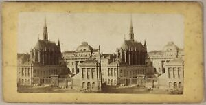 Parigi-Palais-Da-Justice-Francia-Foto-Stereo-PL55L1n-Vintage-Albumina-c1865