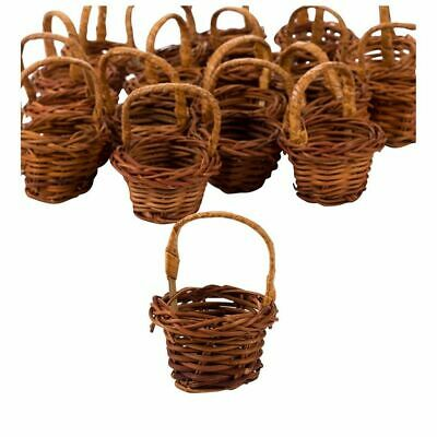 woven seagrass baskets with handles decorative storage boxes.htm 24 pack mini miniature woven round baskets with handles  brown  24 pack mini miniature woven round