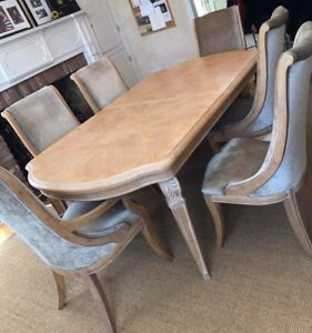 Details about Henredon Dining Table and Chairs Set