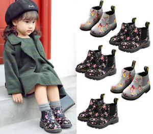 Charmant Enfants Filles Garçons Automne Hiver Fourrure Chaud Chaussures Bottines Martin Bottes Chaussures Plates-afficher Le Titre D'origine