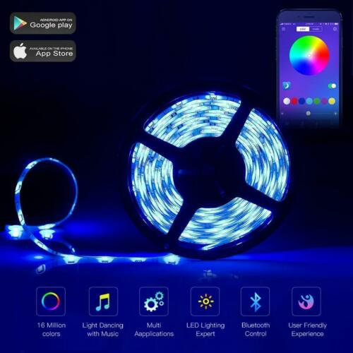 LED Strip Lights WiFi Wireless Smart Phone APP Controlled Sync to Music 10M