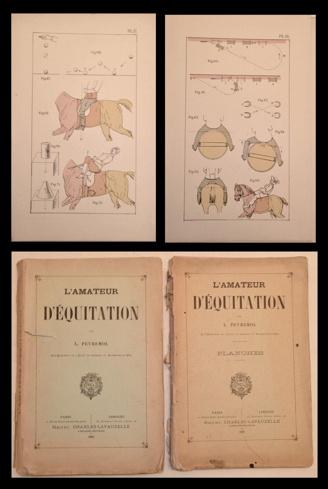 L'AMATEUR d'ÉQUITATION - PEYREMOL 1892 (32 Planches) - CHEVAL - CAVALIER