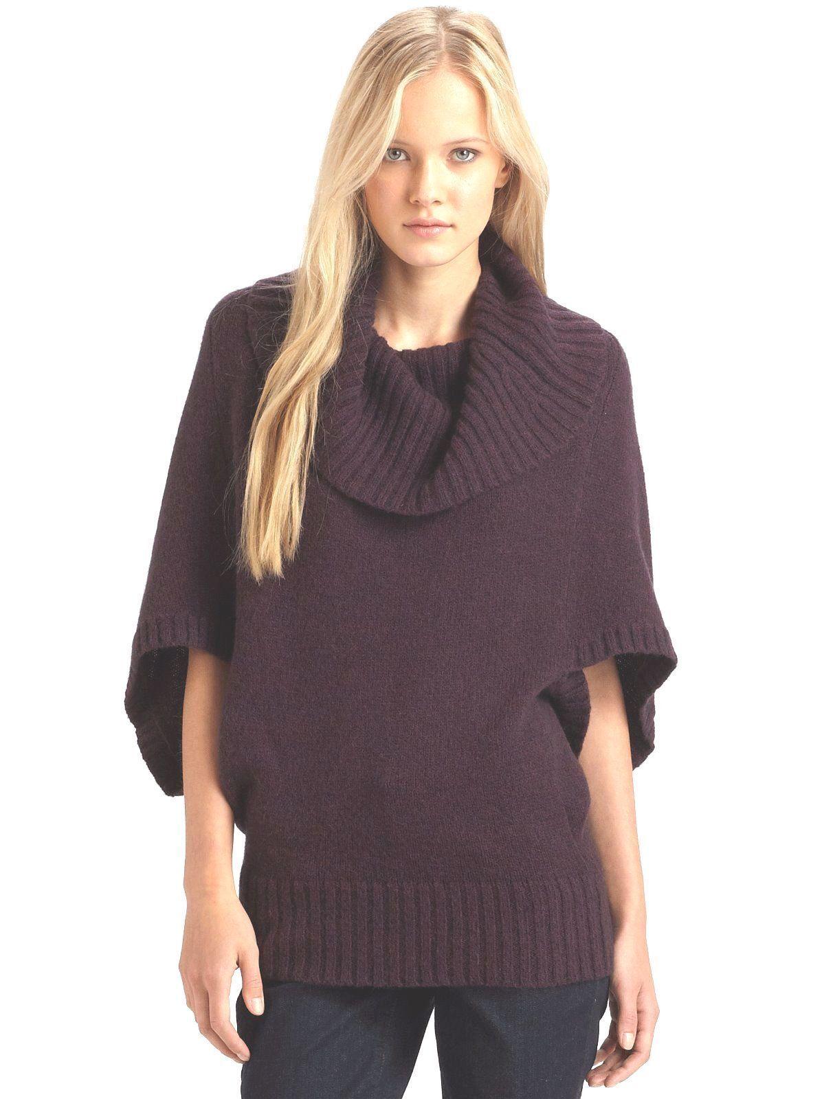 398 BNWT Eileen Fisher Merino bebis Camel DRK POMEGRANATE Cocoon tröja XL